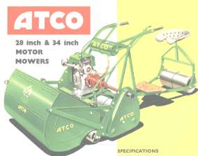 In the 1960s, Atco motor mowers still looked remarkably similar to their 1930s ancestors.