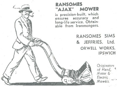 Ransomes Ajax advertisement from the 1950s.